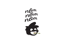 NomNomNom Logotype vector design branding logo illustration logotype