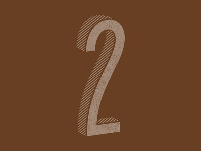 Day 29 / 36 Days of Type - 4th Edition texture typeface type number numerology 36daysoftype04 36daysoftype