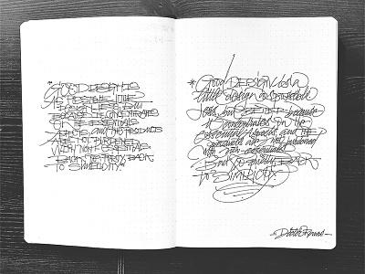 Fast Strokes - Sketchbook letters capitals sketchbook strokes ink caligrafia calligraphy