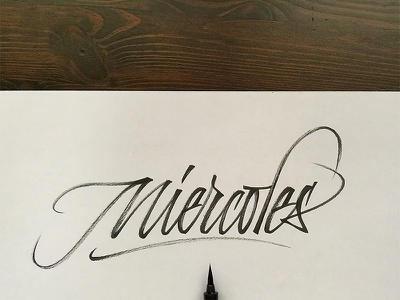 Miércoles pentel pincel caligrafía brush calligraphy brush strokes calligraphy thursday miércoles