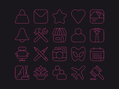 Icon Set illustrator vector iconografia iconos iconography icon graphic design geometry
