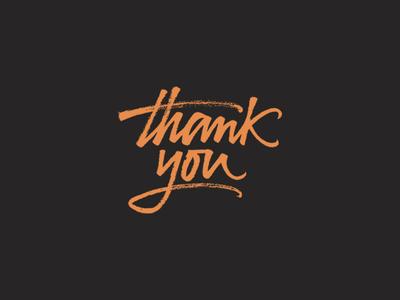 Thank you! strokes handmade than you ink lettering calligraphy brush