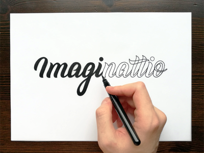 Imaginattio - Identity handmade marca brand brush calligraphy logotype logo identity branding lettering