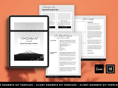 Client Goodbye Kit Template ebook layout ebook design digital guidee ebook freelance designer designer adventure page layout template design goodbye kit canva indesign template