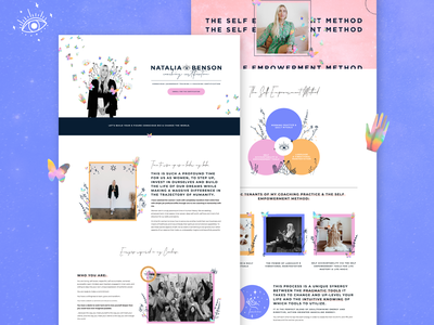 Natalia Benson Coaching Certification Sales Page online course website design mystical modern mystic spiritual coach spiritual coaching squarespace website squarespace design squarespace sales page