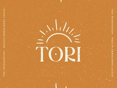 Tori Washington Logo illustration coach branding coach spiritual coach coaching sunrise sun branding agency branding logo