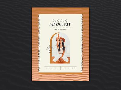 Tori Washington Media Kit typography ebook cover layout spiritual coaching branding coach media kit