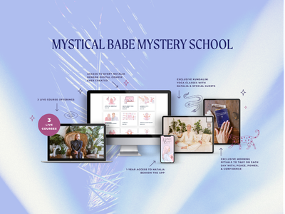 Mystical Babe Mystery School Glam Shot ui page layout online store squarespace squarespace design workshop online course glam shot