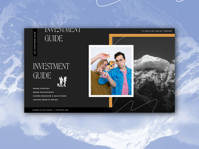 Dynamo Ultima Investment Guide ui outdoors adventure typography dynamo ultima agency website design studio investment services guide page layout