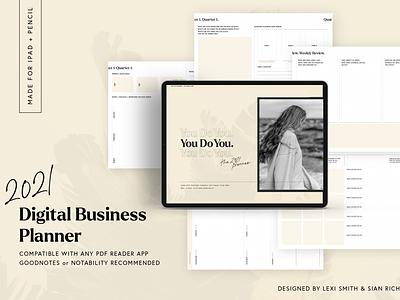 2021 Digital Business Planner calendar design planner template ebook layout layout editorial design ebook business planner digital calendar ipad ipad planner digital planner