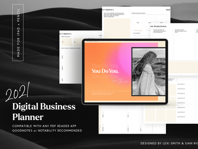 Bold 2021 Ipad Business Planner ipadpro business planner ipad planner digital planner magazine ebook editorial typography layout adventure page layout