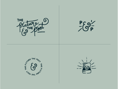 The Picture & The Poet Logo Variations