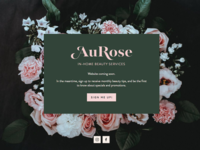 Aurose Beauty Website Cover Page