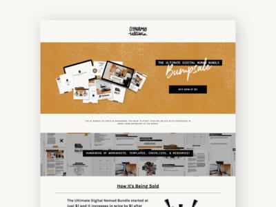 Digital Nomad Sales Page squarespace website design digital nomad online course digital products web design sales page