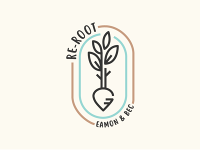 Re-root podcast art for Eamon & Bec logo podcast podcast art