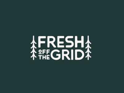 Fresh Off The Grid Logo illustration outdoors typography adventure logo branding