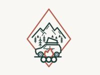 Fresh Off The Grid Car Camping Illustration