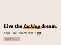 Live the fucking dream.