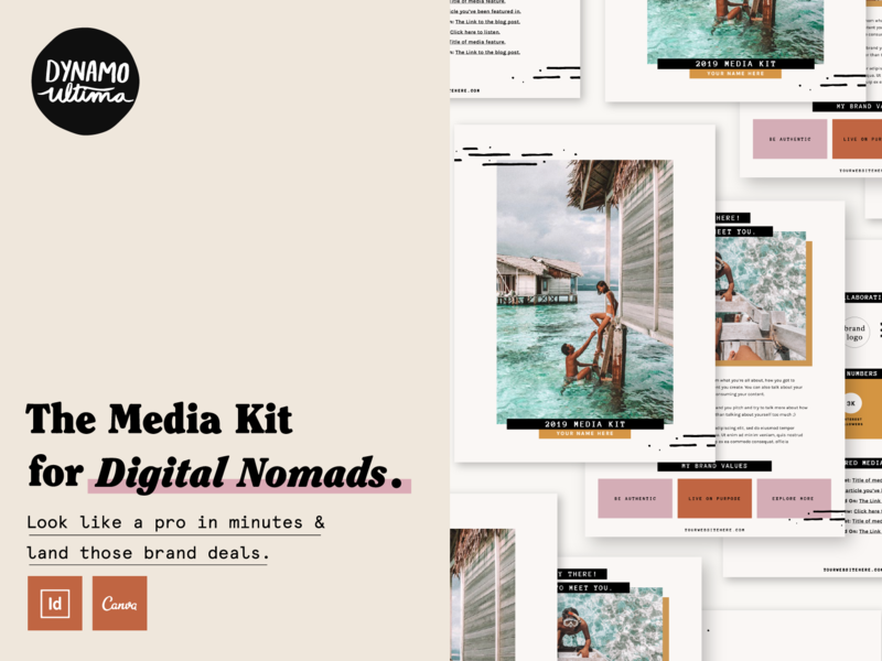 Work From Wherever Media Kit Promo screenshot promo layout page layout typography branding