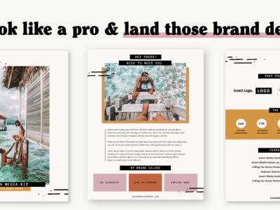 Work From Wherever Media Kit Template ui layout page layout typography branding logo editorial press kit influencer digital nomad media kit template template design
