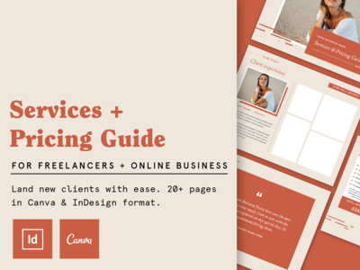 Services & Pricing Guide For Freelancers services pricing pricing guide template design design template template magazine outdoors editorial page layout typography adventure