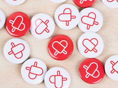 Pop Shop is online! red logo love summer buttons popsicles popshop
