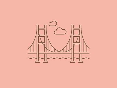 Golden Gate Bridge sf pink golden gate bridge san francisco