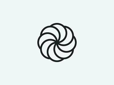 Spiral thick lines seafoam symbol spiral