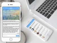 News app design concept
