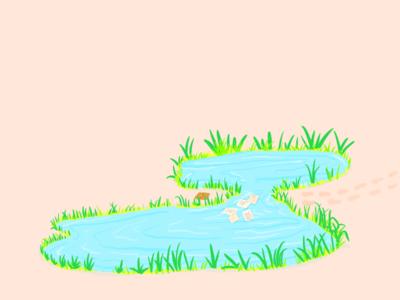 Pondside Illustration