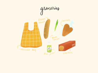 Groceries Illustration
