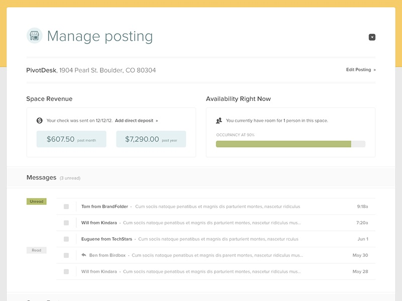 Manage posting full