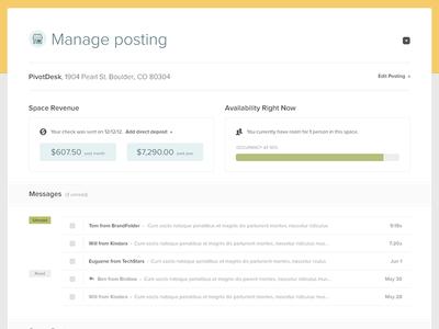 Manage posting