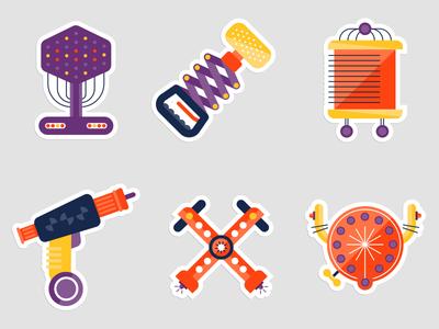 Spaceteam Tool Stickers