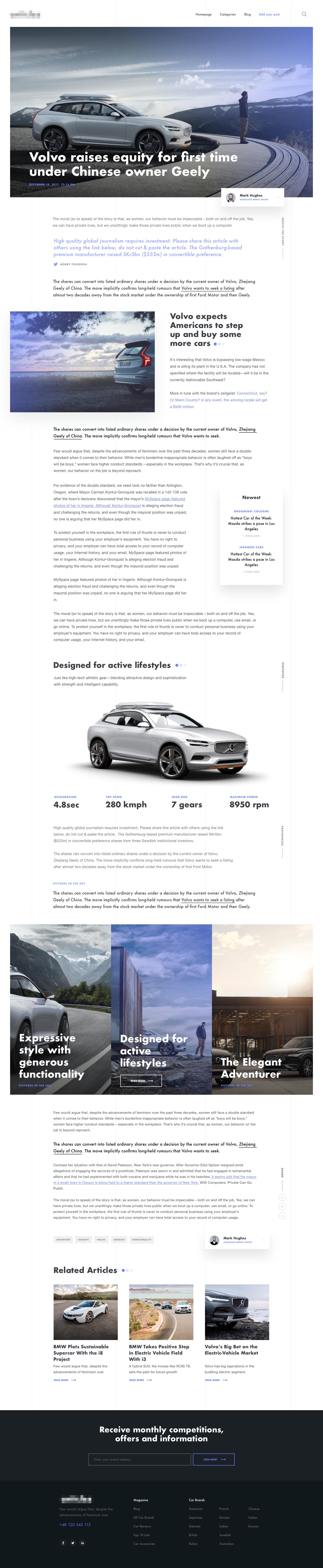 Volvo article