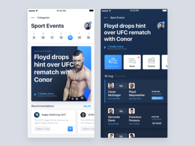 Sport Events App