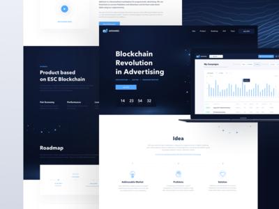 Adshares Landing Page website page landing network ethereum blockchain advertising adshares ads