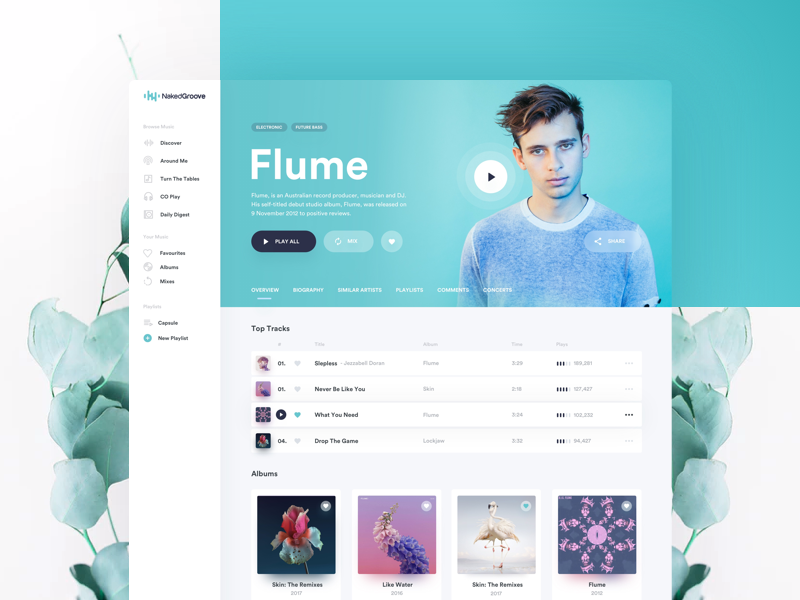 Online Music Streaming Service - Artist Page by Mateusz Piatek