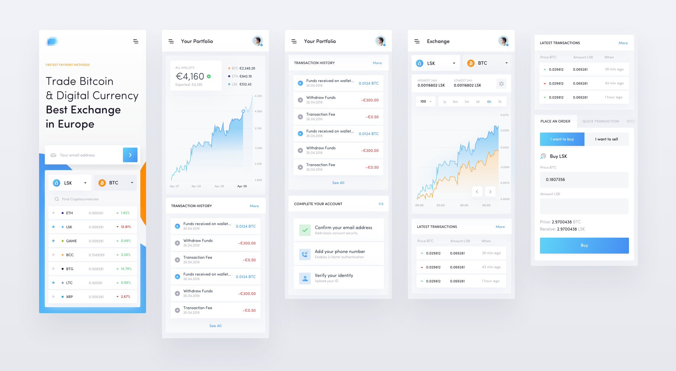 Crypto exchange mobile2
