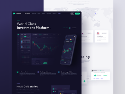 Coinquista - Landing Page ethereum bitcoin coinquista 10clouds ui landing page landing cryptocurrency cryptocurrency exchange exchange crypto exchange crypto trading