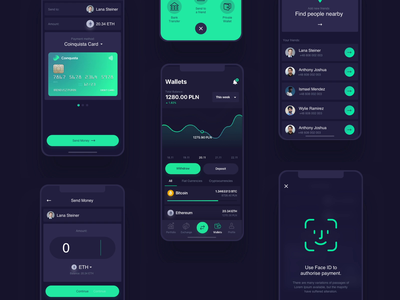 Coinquista - Mobile App 2 mobile interactions principle wallets send payments crypto app mobile app ios app ios exchange ethereum cryptocurrency app cryptocurrency coinquista bitcoin 10clouds