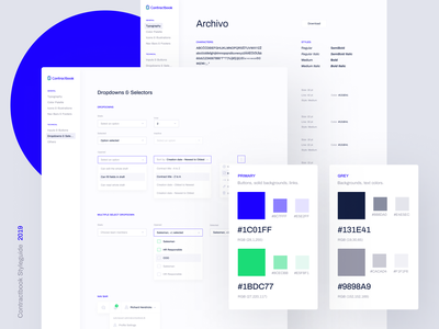 Contractbook - UI Styleguide ui ui style guide style guide styleguide product digital signature contract lifecycle contract management templates contract contracts contractbook