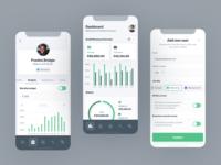 Smarter Business / Company Spending - Mobile finance app finance ios app ios income outcome spending fintech mobile fintech fintech app mobile design mobile app ux ui