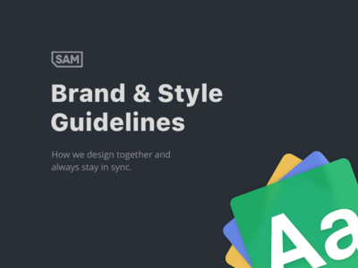 SAM Brand & Style Guidelies doc styleguide guideline brand