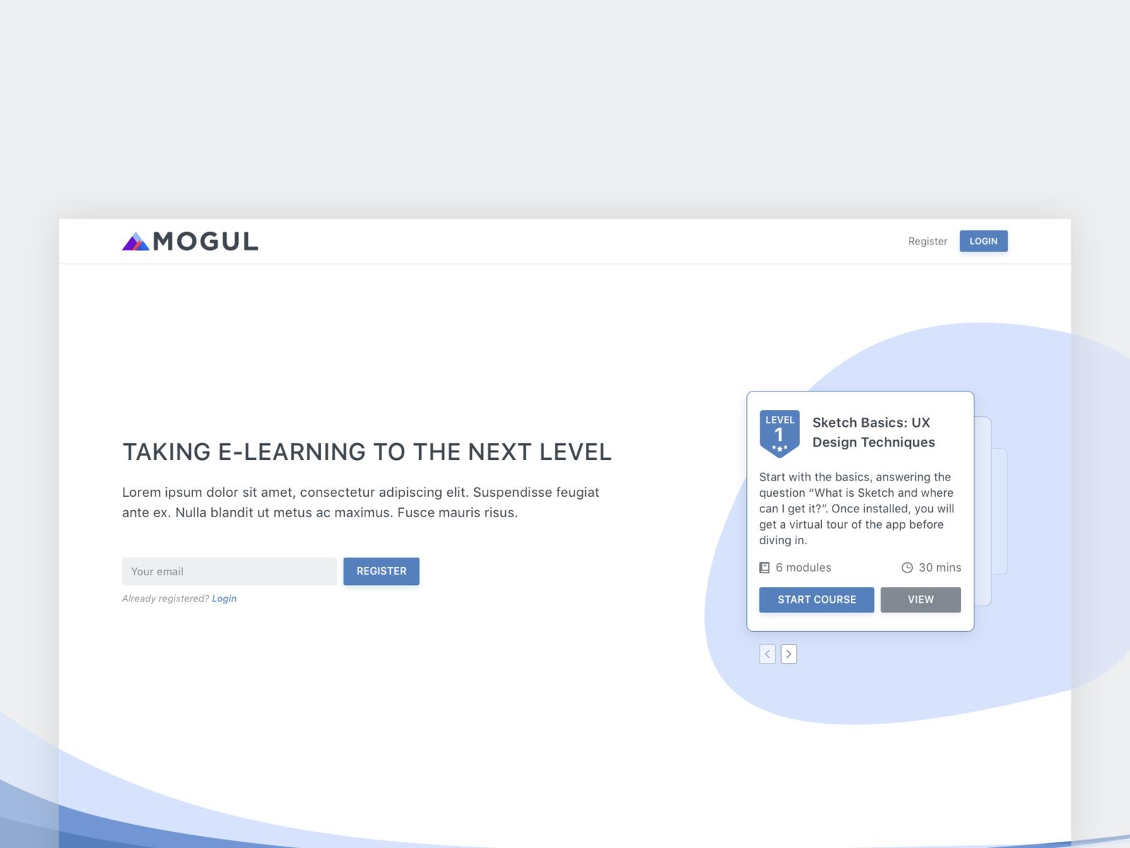 Mogul Splash Page Design