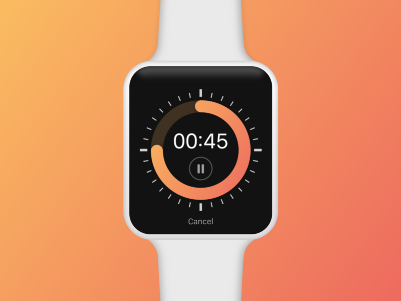 Countdown (Apple Watch App) apple watch gradient app daily ui application ux ui concept