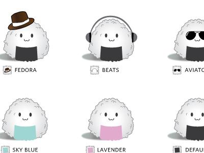 Bento Ballz mac apple widget character ball rice japan graphic design ux