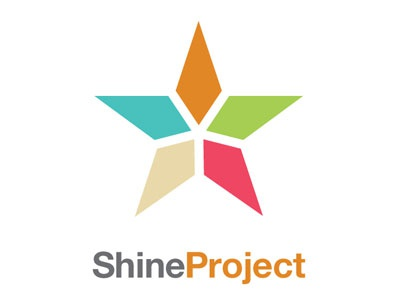 Shine Project sticker community outreach church religious student school high logo graphic design campaign