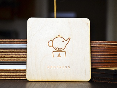 Goodness love patience spirit tea milk boba vector illustration design wood coaster