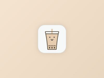 Pearl & Straw milk logo icon app tea pearl boba